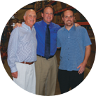 Jerry, Corey and Brad Kliman in their San Jose warehouse, distribution and training center